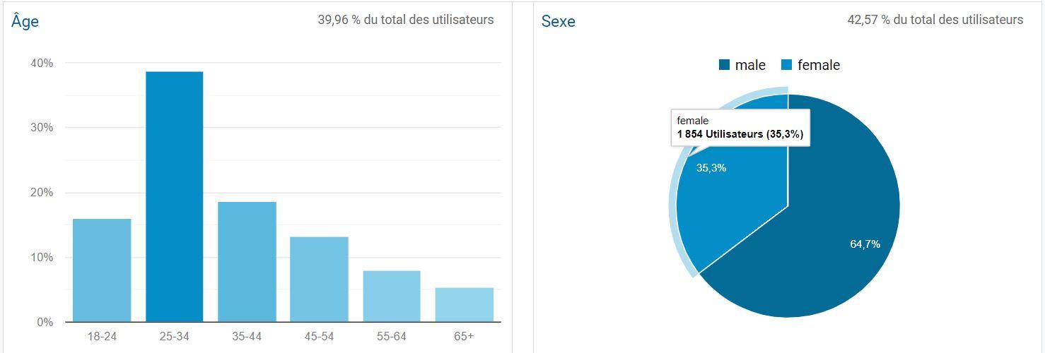Google Analytics : données démographiques